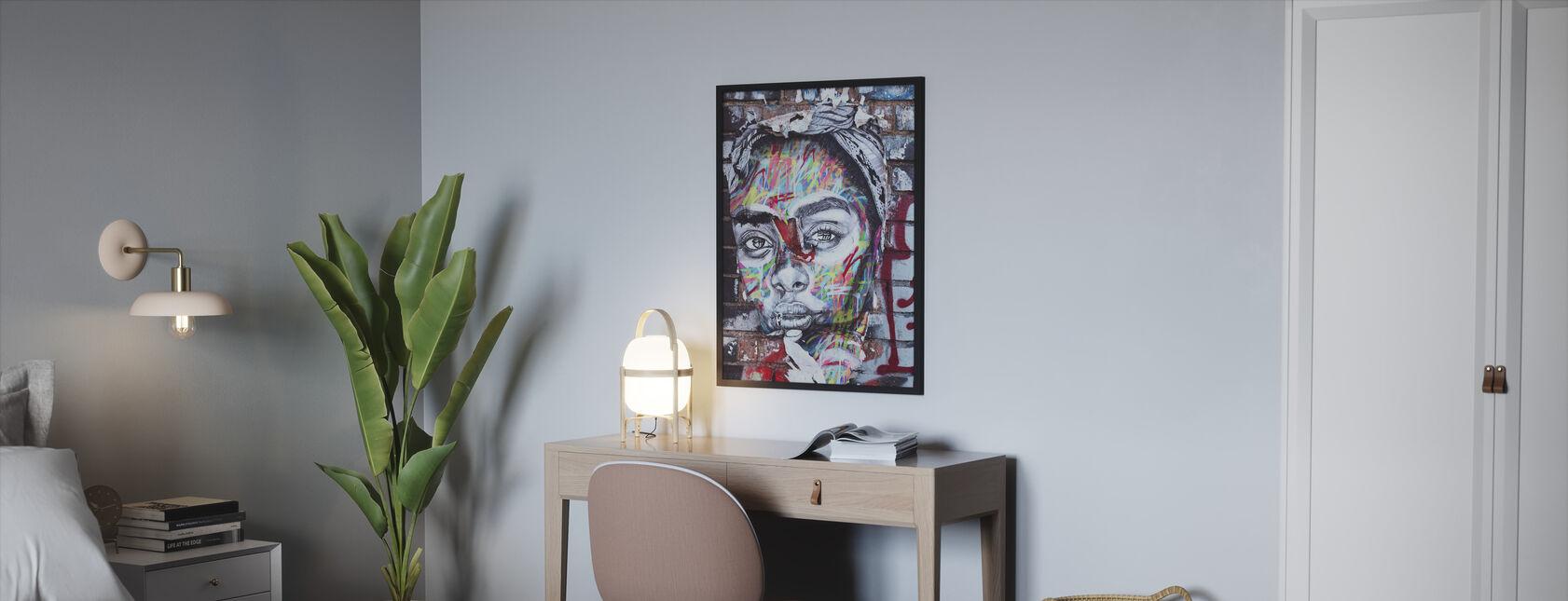 Street Art Portrait - Framed print - Bedroom