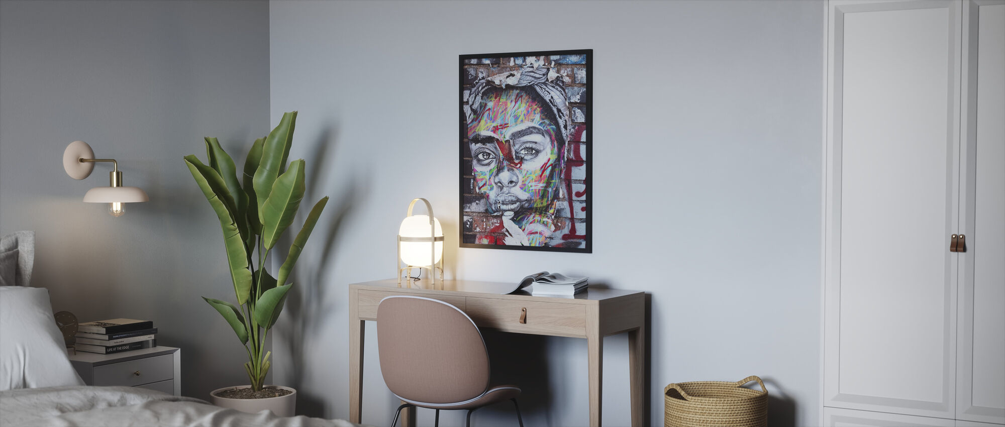 Street Art Portrait - Framed print - Bedroom