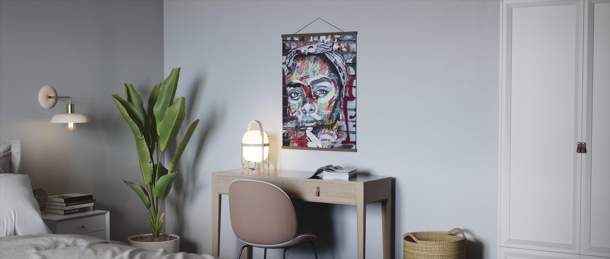 Gadekunst Portræt - Plakat - Kontor