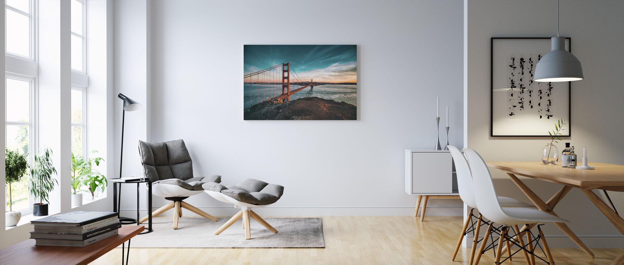 San Francisco Bridge - Canvas print - Living Room