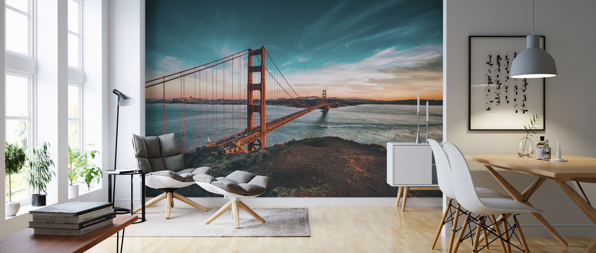 San Francisco Bridge - Wallpaper - Living Room