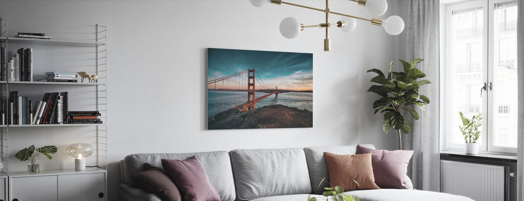 Brug van San Francisco - Canvas print - Woonkamer