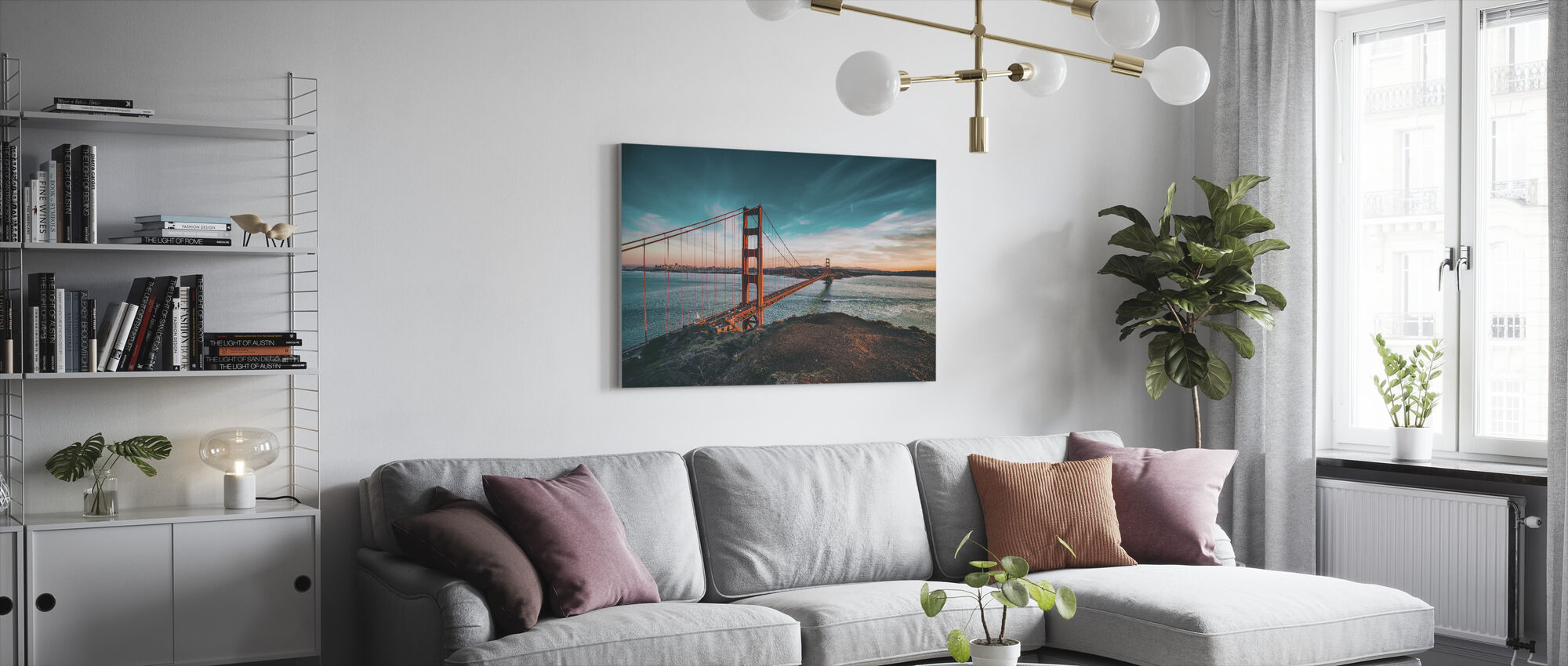 San Francisco Bridge - Canvas print - Living Room