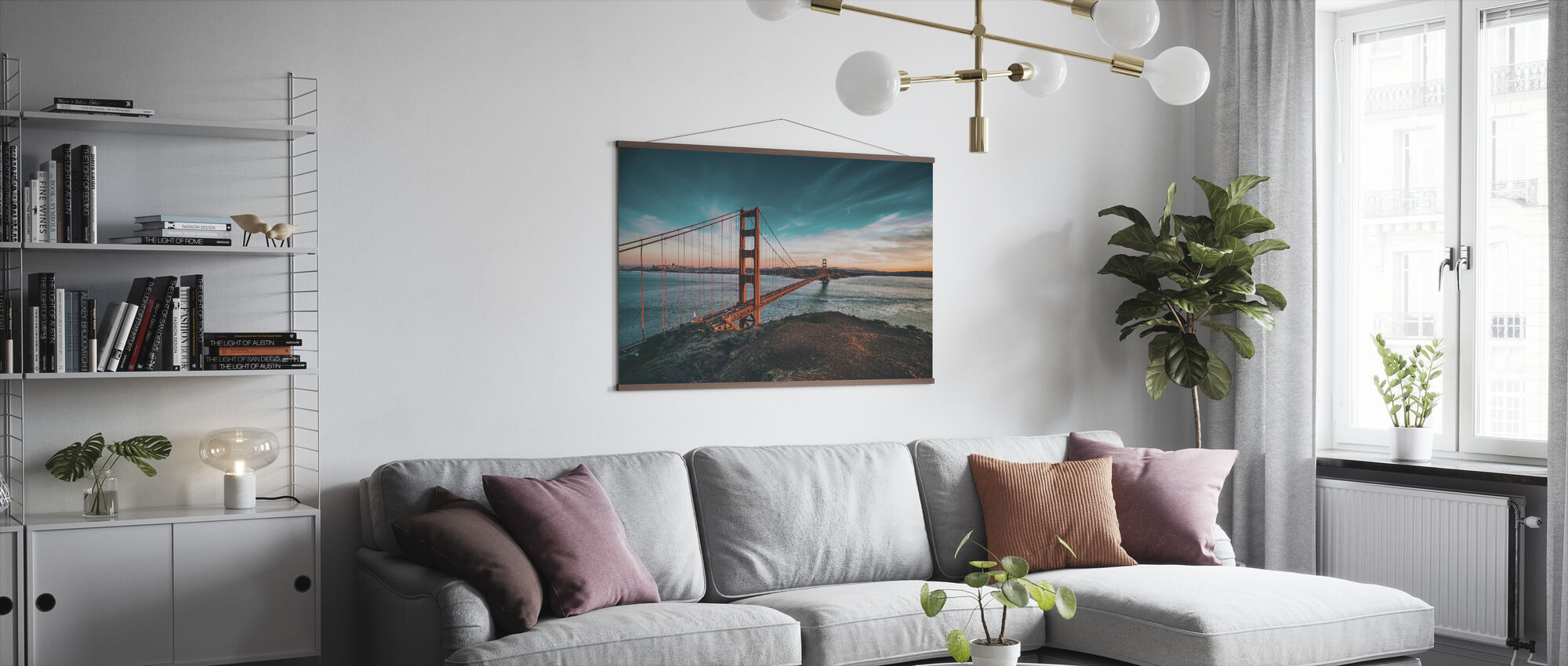 San Francisco Bridge - Poster - Living Room