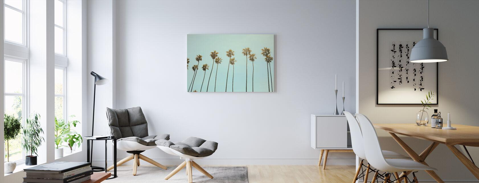 Santa Monica palmuja - Canvastaulu - Olohuone