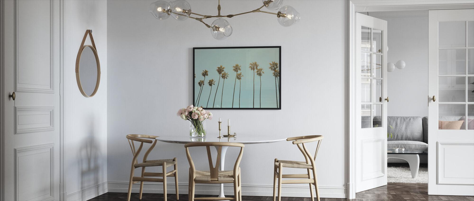 Santa Monica Palm Trees - Framed print - Kitchen