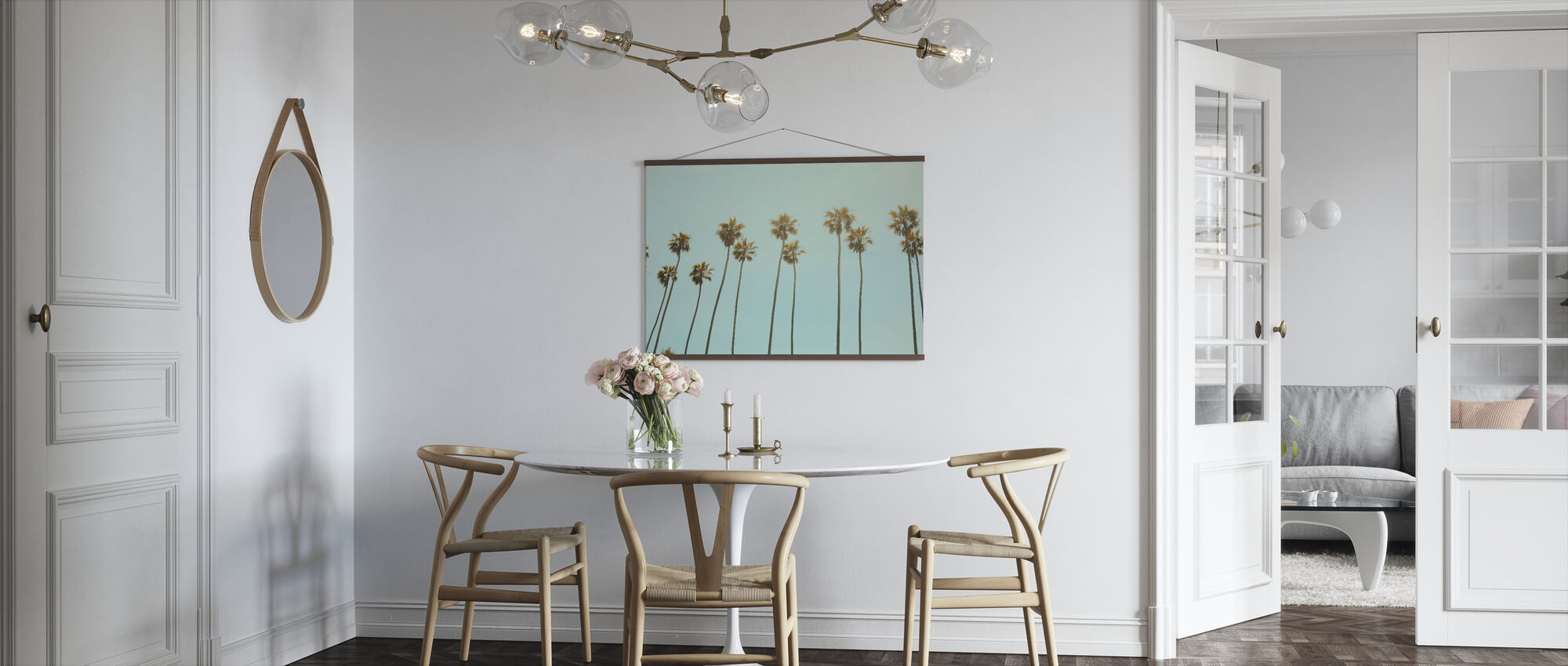 Santa Monica Palm Trees - Poster - Kitchen