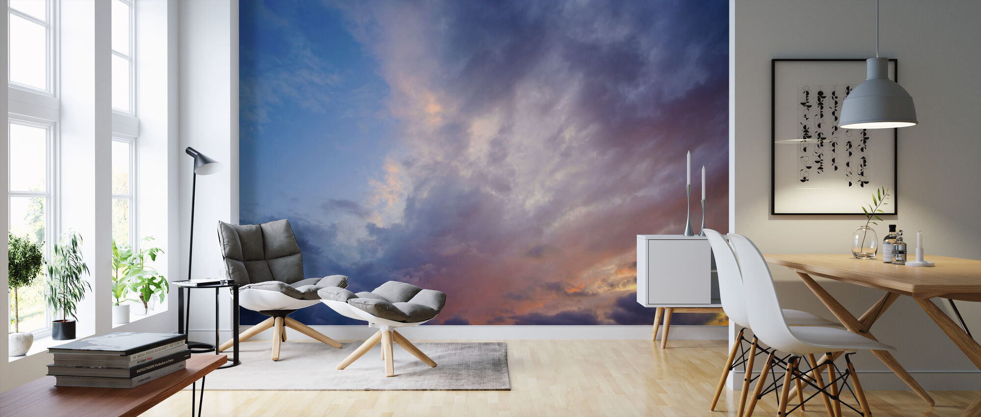 Cloudy Sky at Dusk - Wallpaper - Living Room