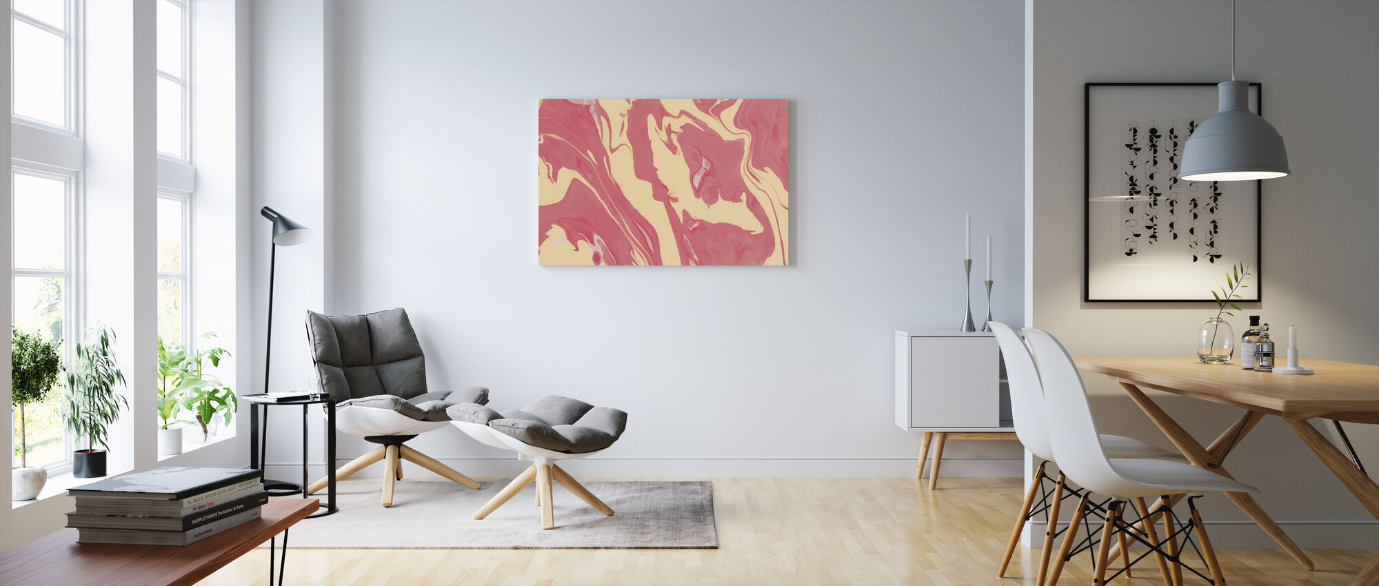 Abstract Marble Paint III - Canvas print - Living Room