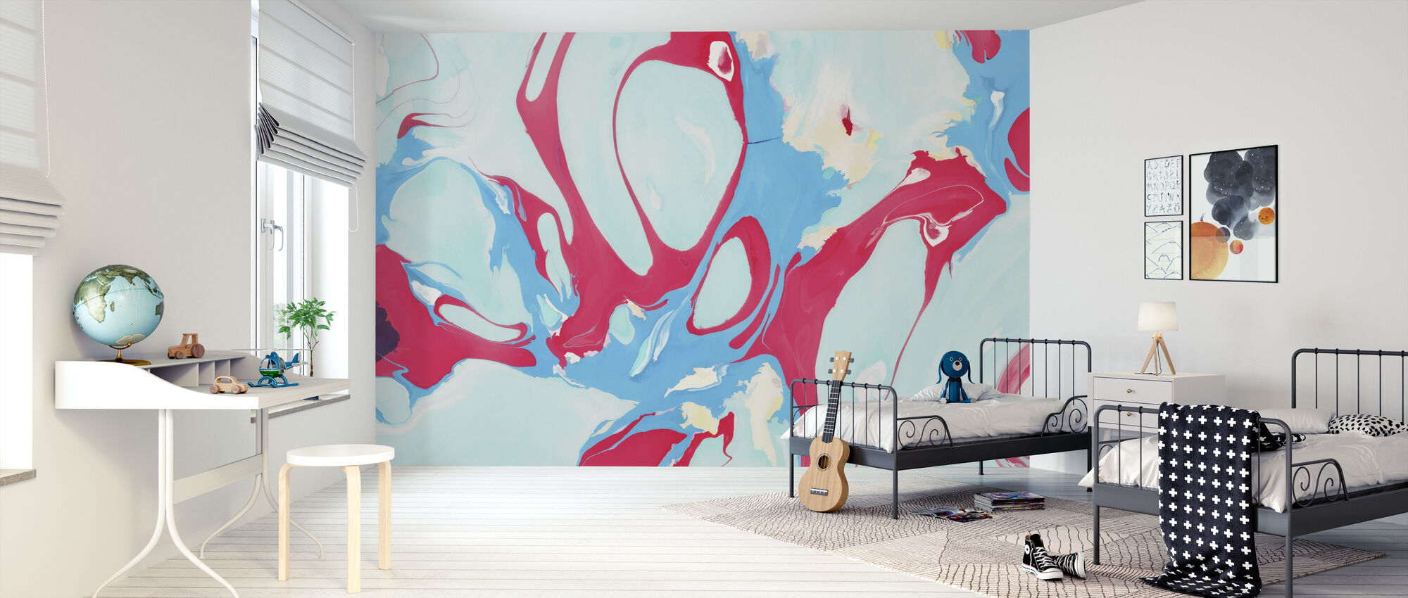 Abstract Marble Paint IIII - Wallpaper - Kids Room