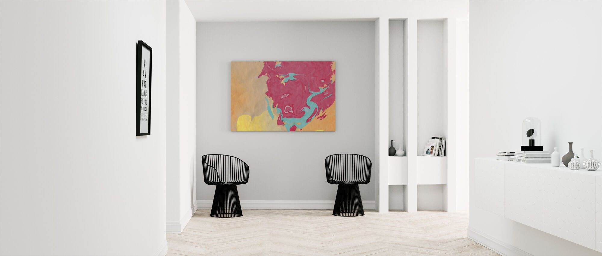 Abstract Marble Paint V - Canvas print - Hallway