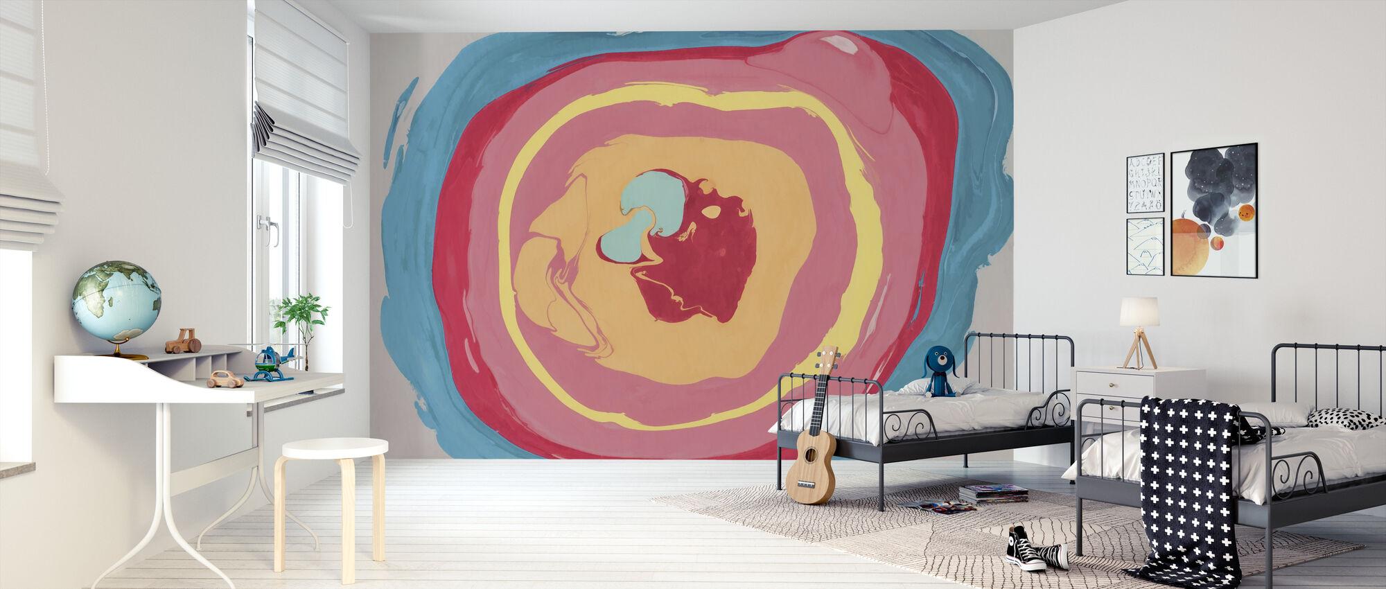 Abstracte marmeren verf - Behang - Kinderkamer