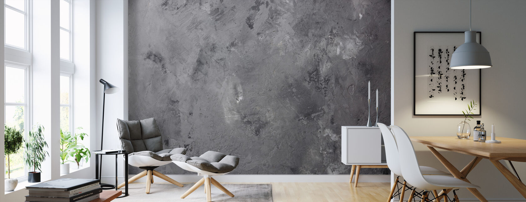 Aged Concrete - Wallpaper - Living Room