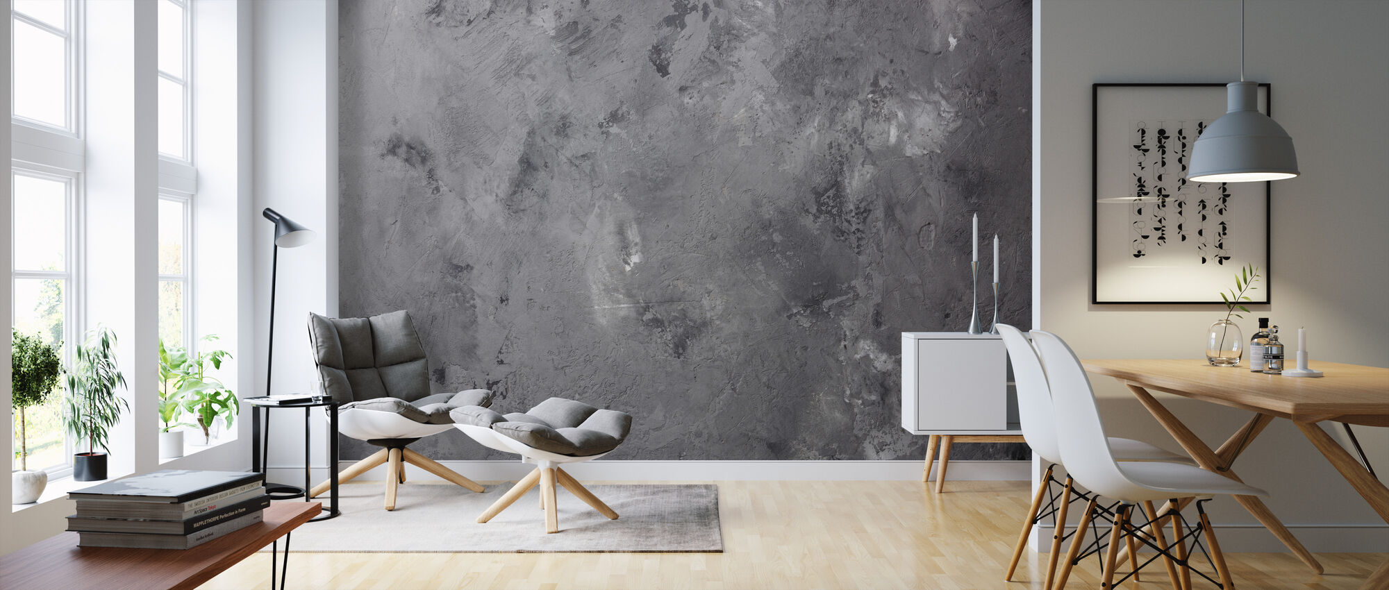 Aged Concrete - Wallpaper - Living Room