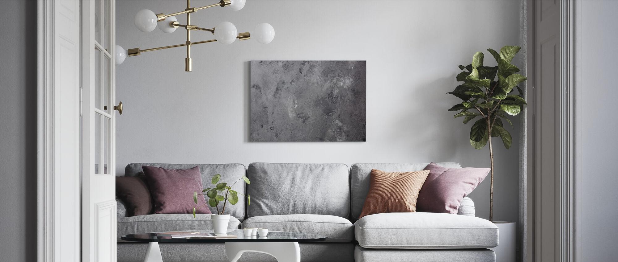 Aged Concrete - Canvas print - Living Room