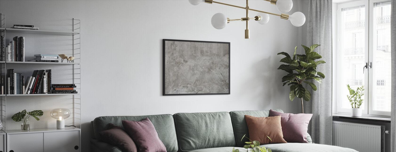 Betong Vegg tekstur - Innrammet bilde - Stue