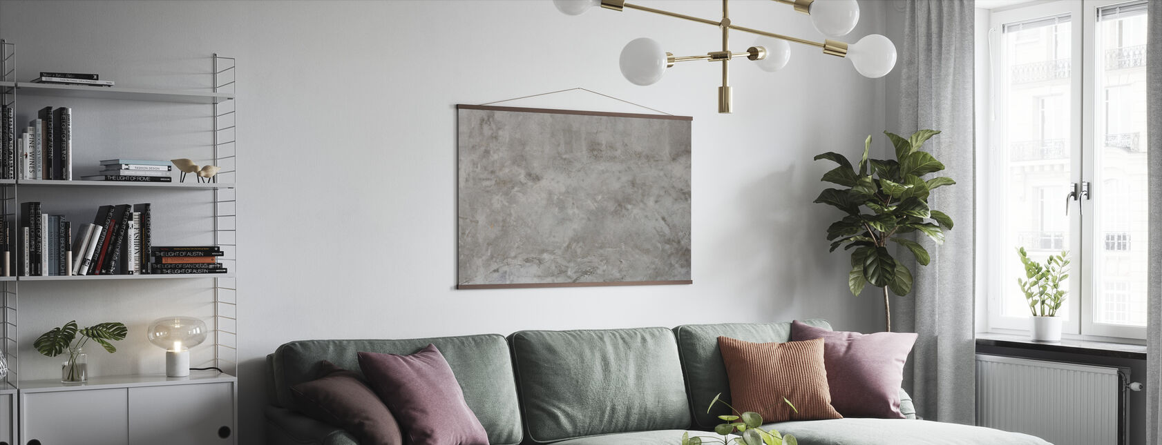 Concrete Wall Texture - Poster - Living Room