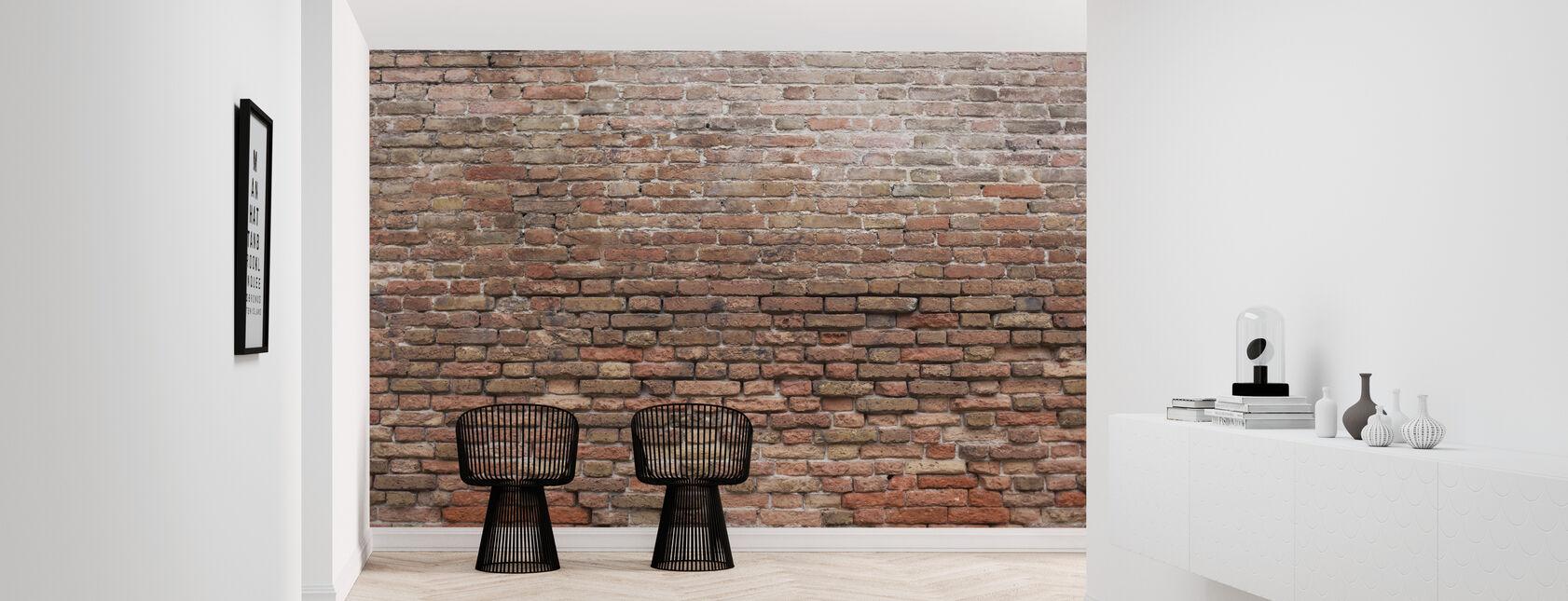 Zrujnowany mur z cegły - Tapeta - Przedpokój