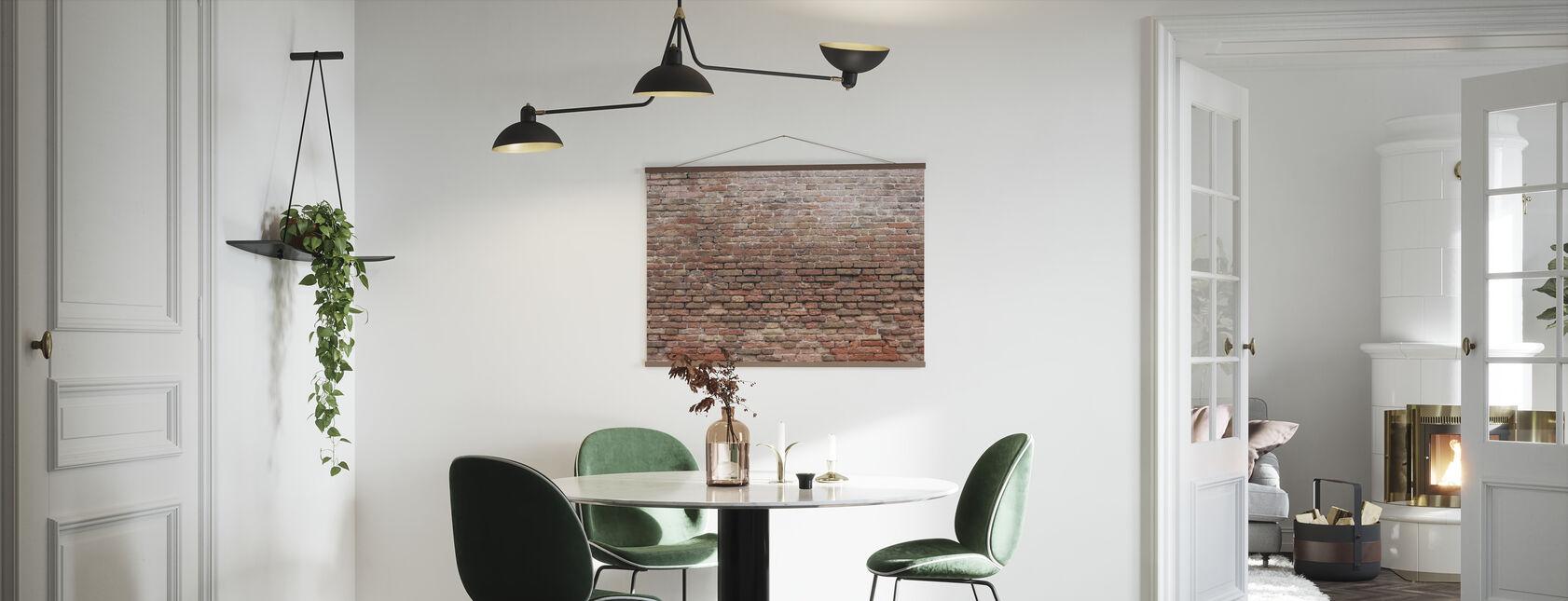 Dilapidated Brick Wall - Poster - Kitchen