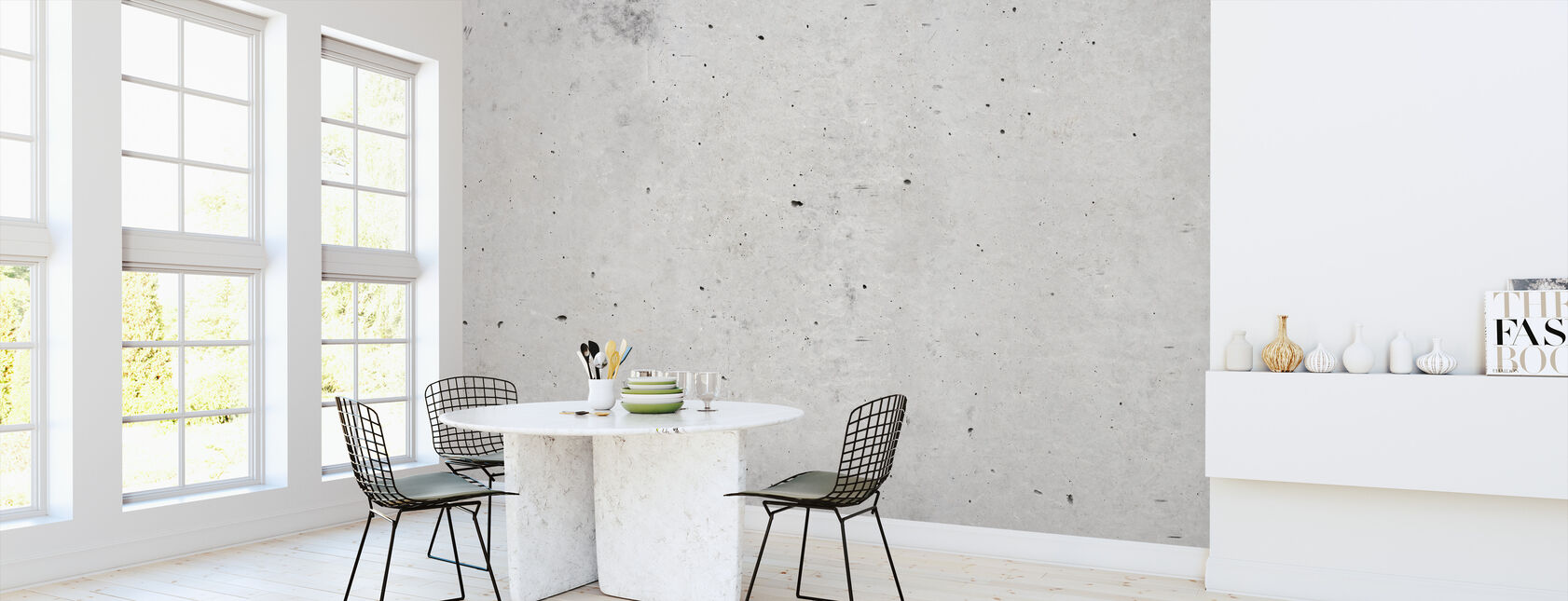 Hard Concrete Wall - Wallpaper - Kitchen