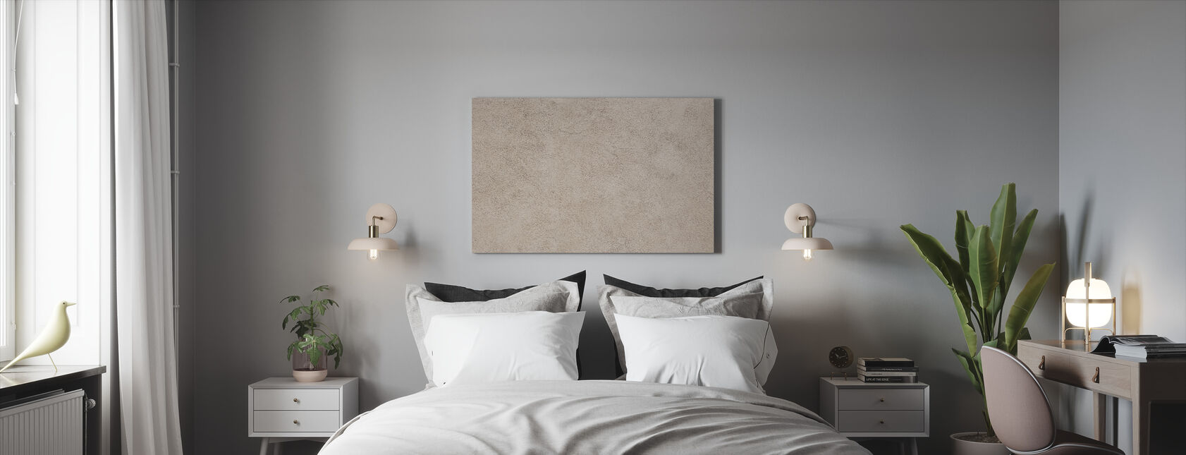 Italian Light Brown Wall - Canvas print - Bedroom
