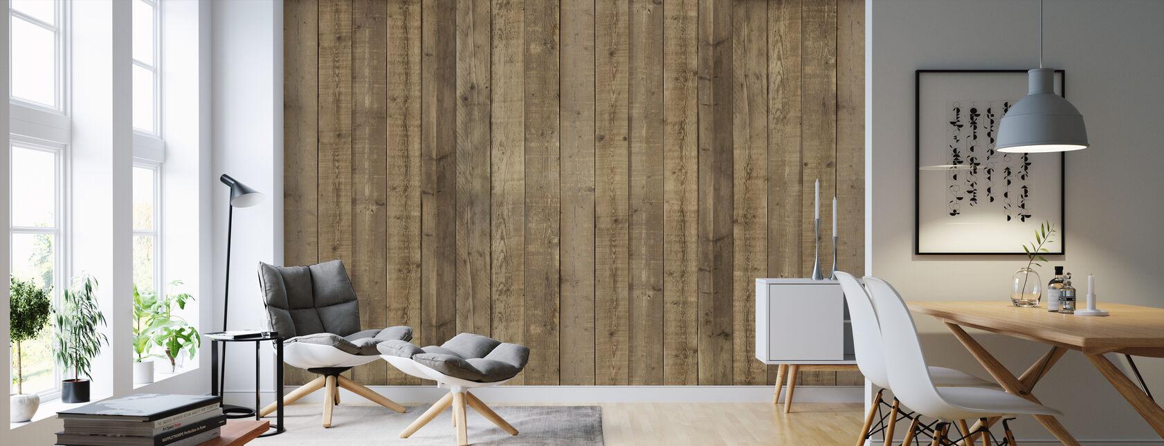 Planka vägg - Tapet - Vardagsrum