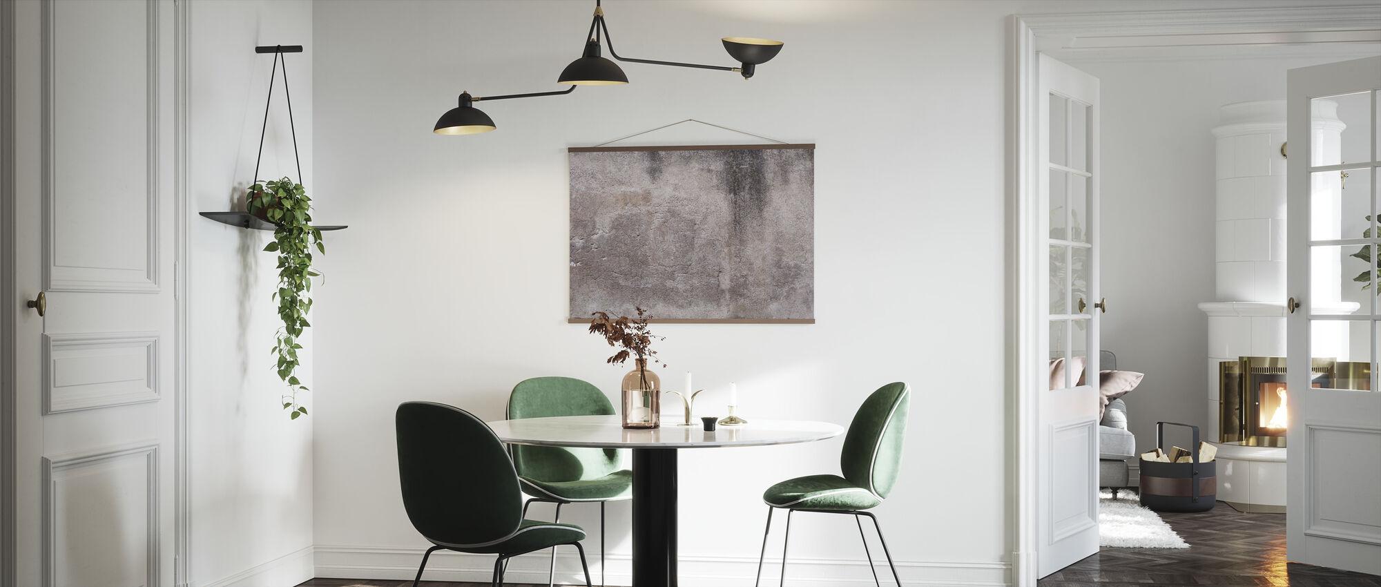 Rose Brown Concrete Wall - Poster - Kitchen