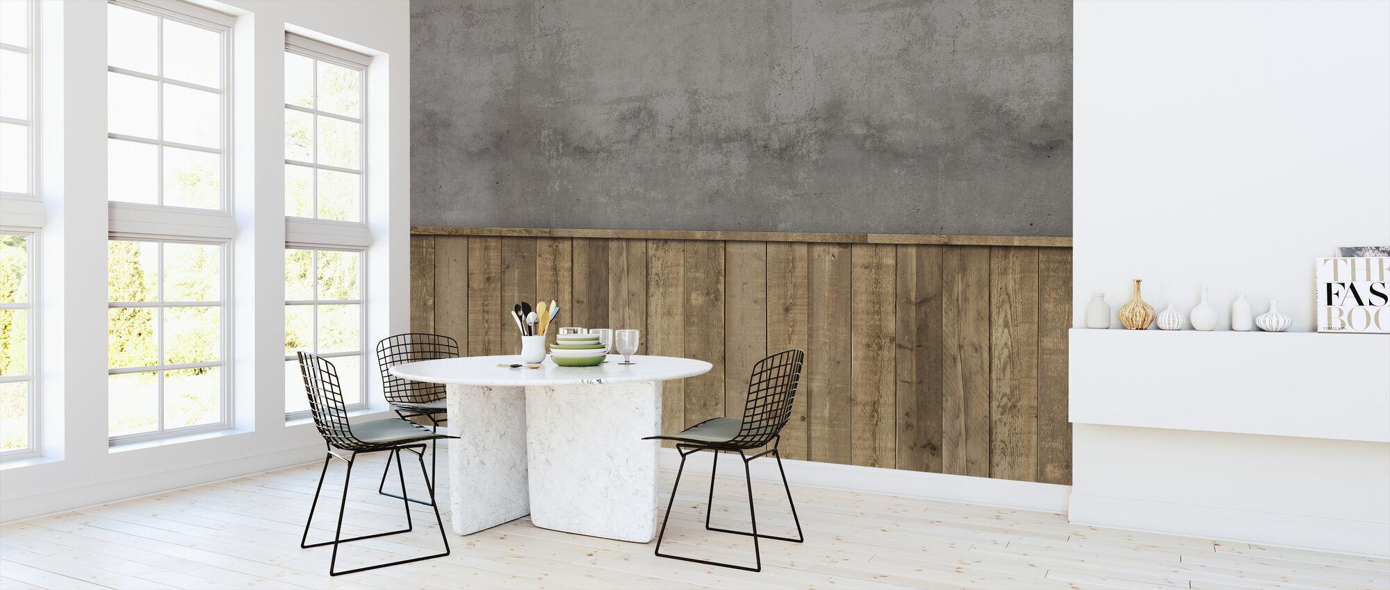 Rough Store Wall - Wallpaper - Kitchen