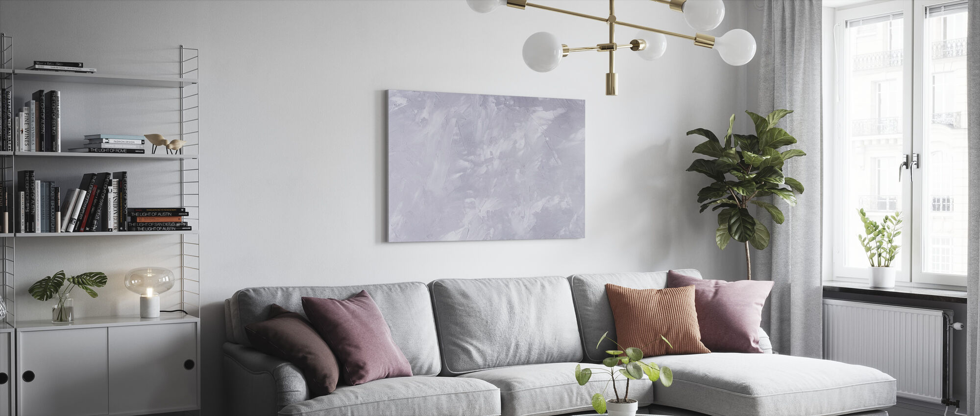 Scratched Concrete Wall - Canvas print - Living Room
