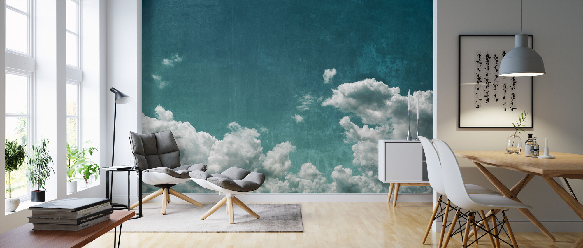 Textured Cloudy Sky - Wallpaper - Living Room