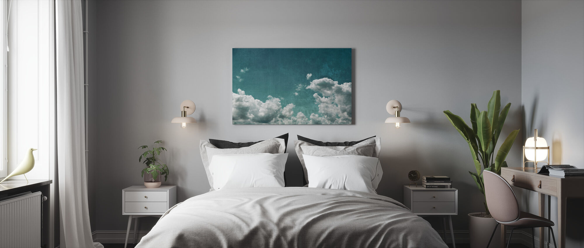 Textured Cloudy Sky - Canvas print - Bedroom