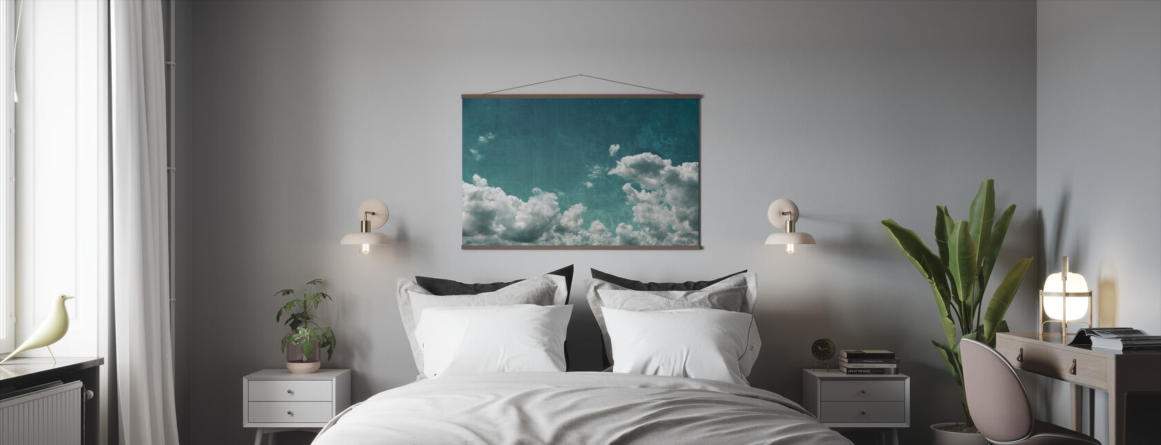 Textured Cloudy Sky - Poster - Bedroom
