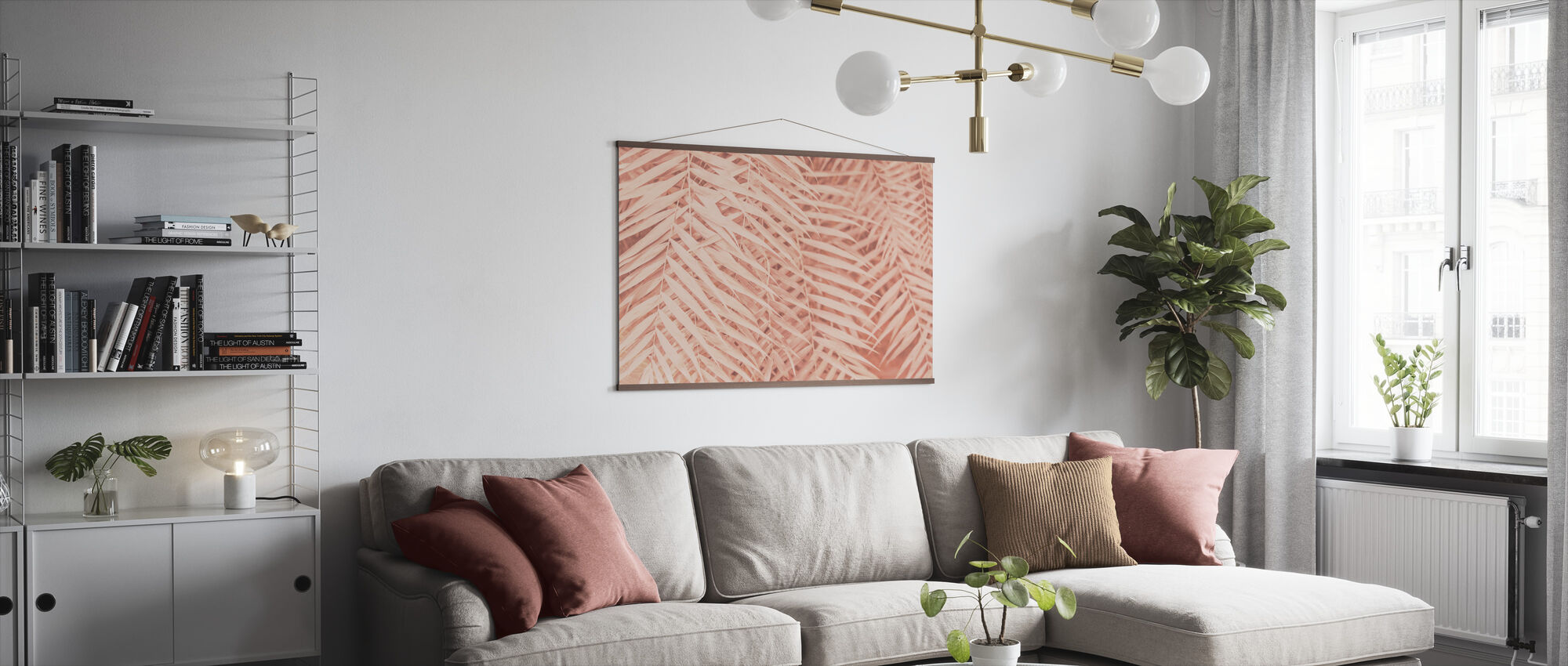 Toned Tropical Palm Leaves - Poster - Living Room