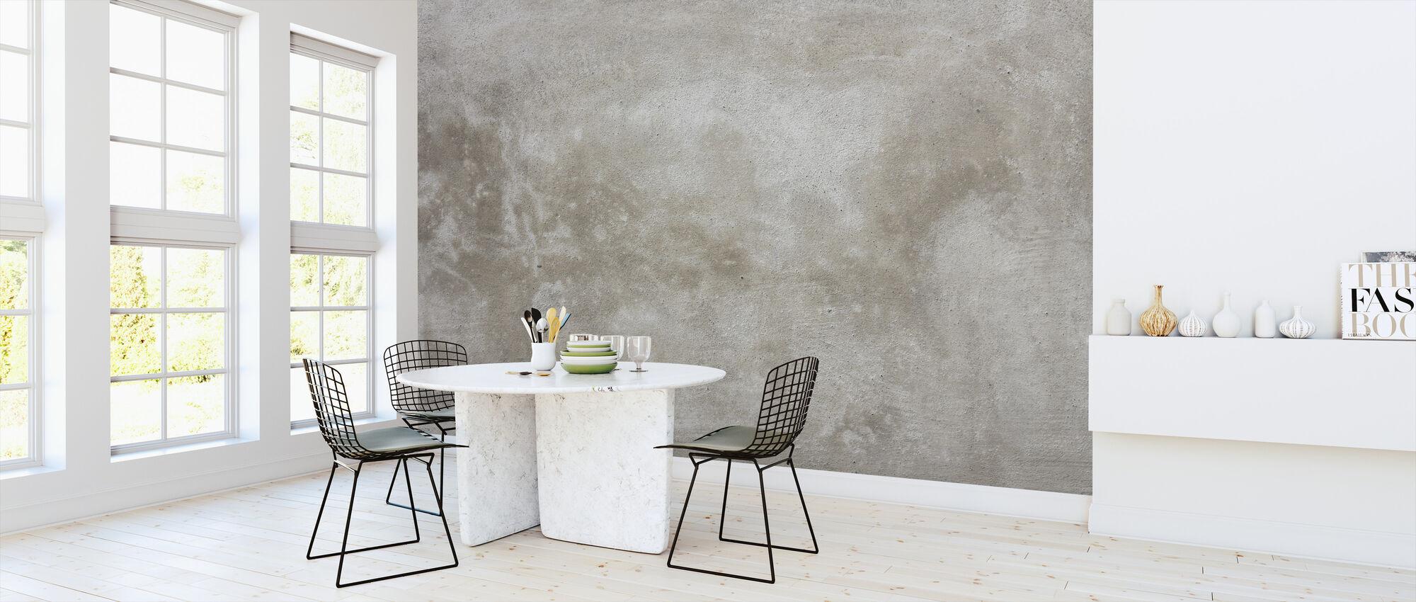 Torn Beige Stone Wall - Wallpaper - Kitchen