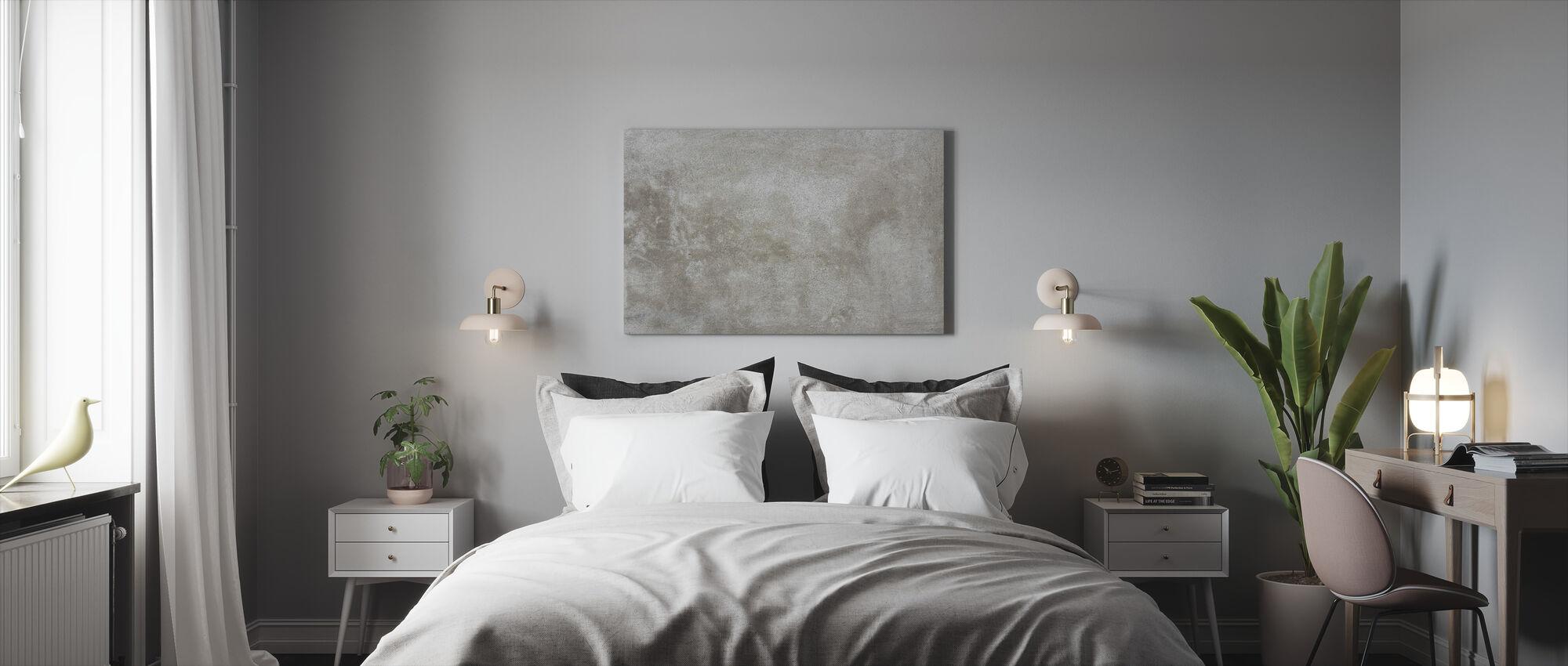 Gescheurde Beige Stenen Muur - Canvas print - Slaapkamer