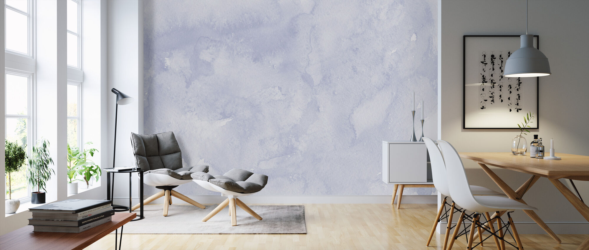 Watercolor Minimalism XV - Wallpaper - Living Room