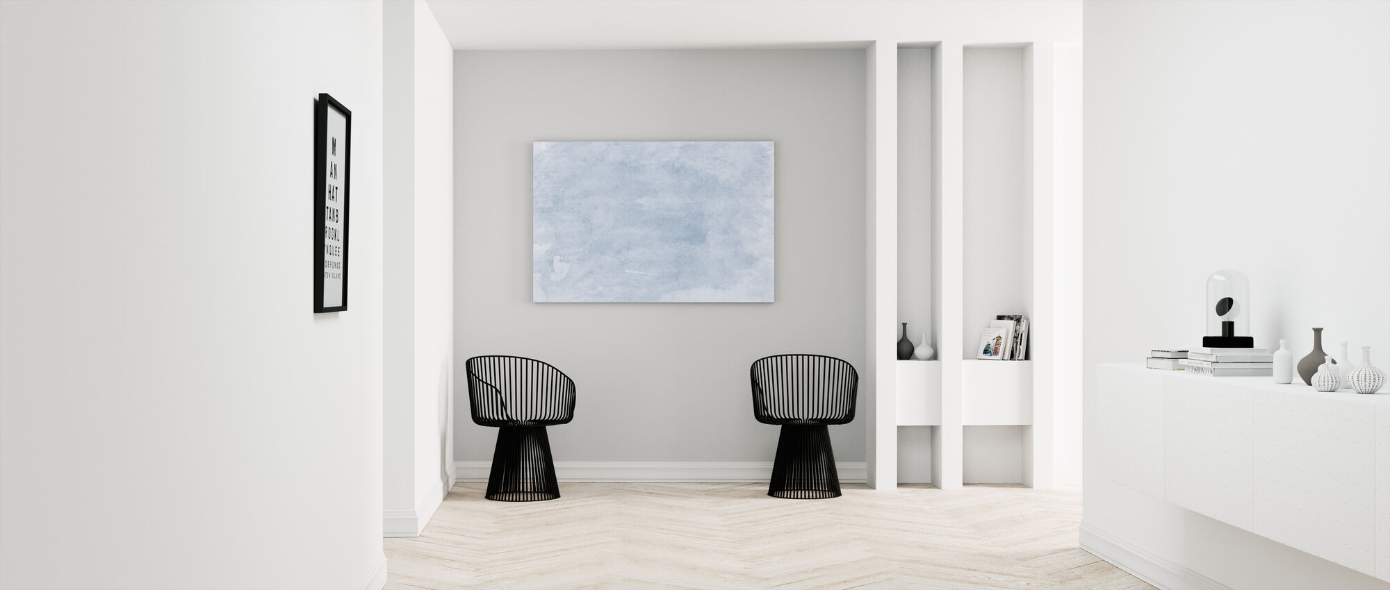 Watercolor Minimalism XVI - Canvas print - Hallway