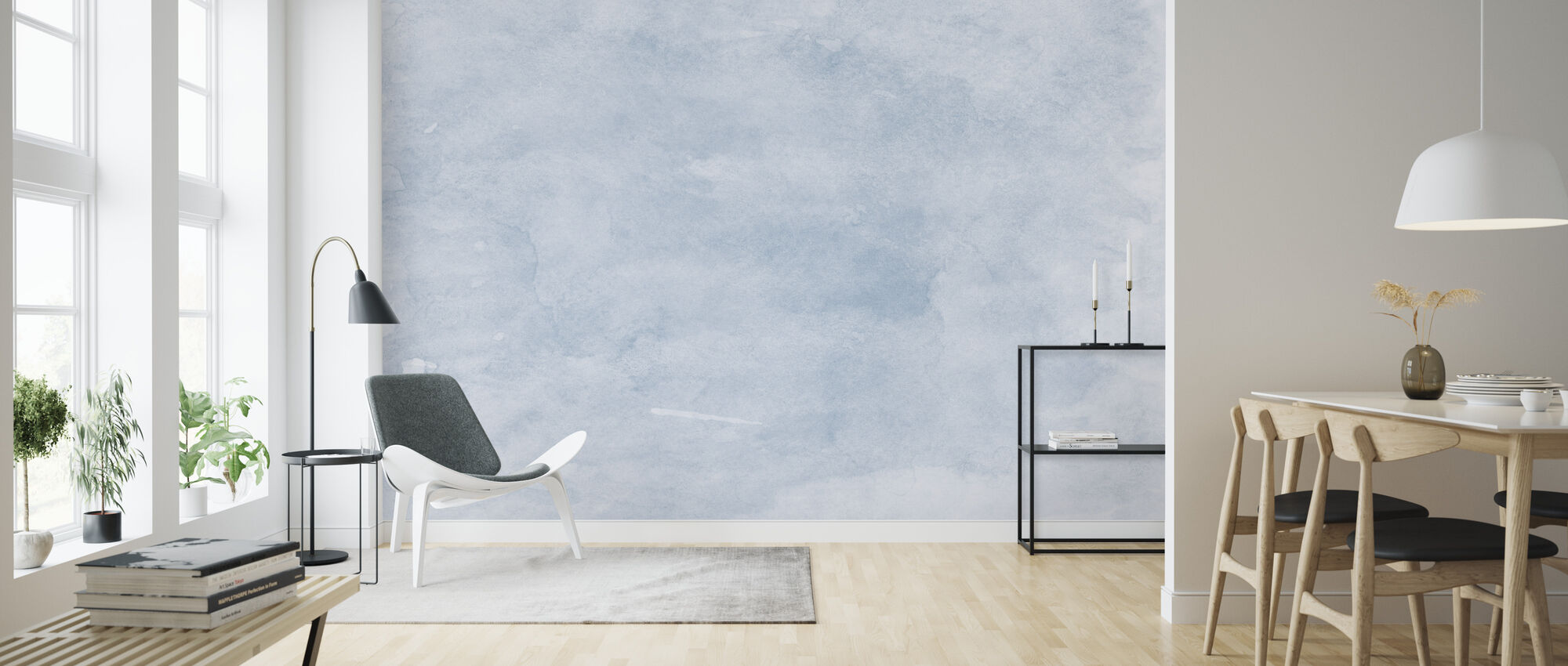 Watercolor Minimalism XVI - Wallpaper - Living Room