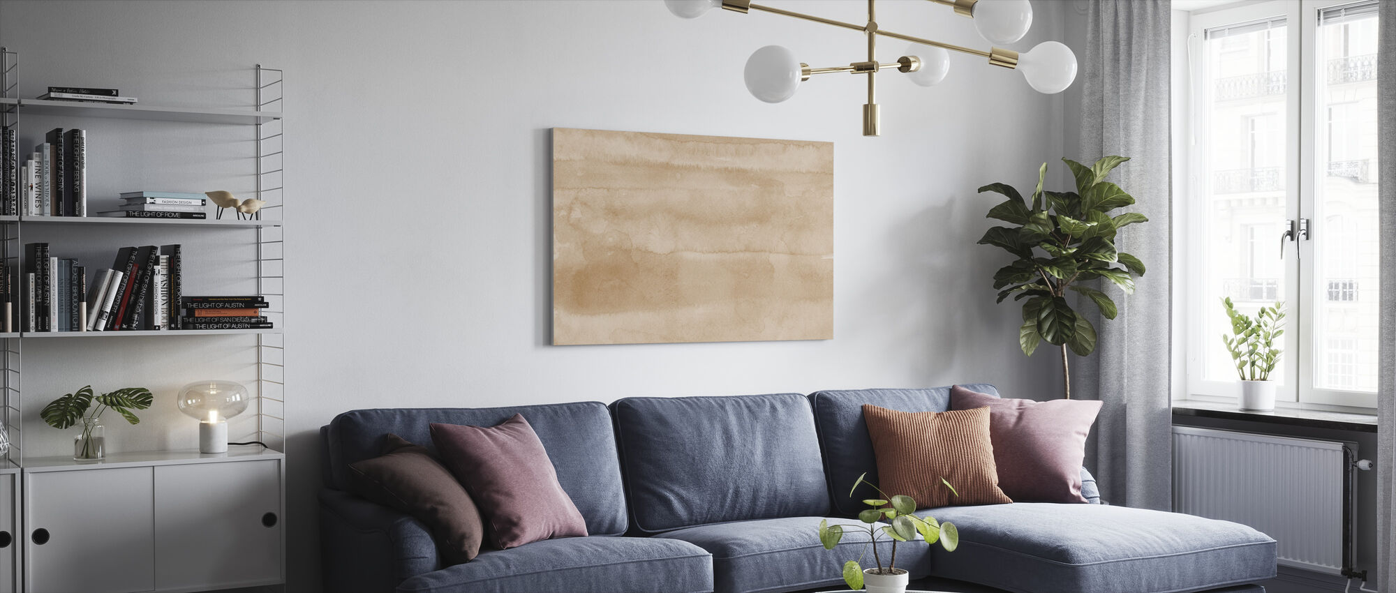 Watercolor Minimalism XVII - Canvas print - Living Room