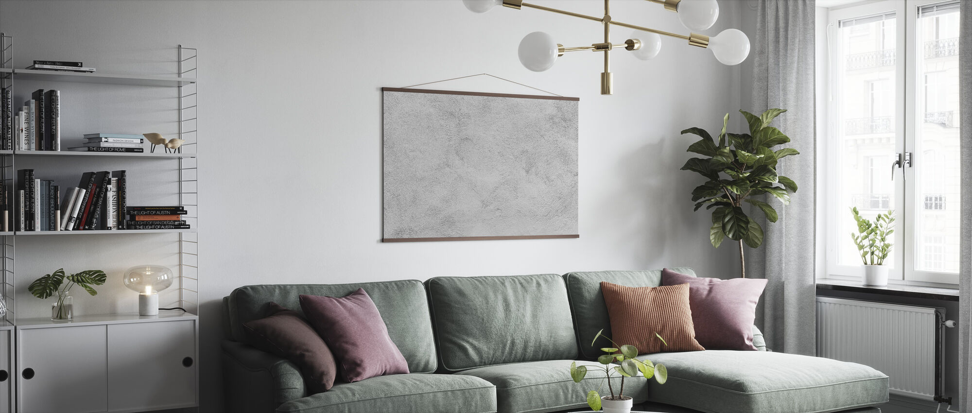 White Washed Concrete - Poster - Living Room
