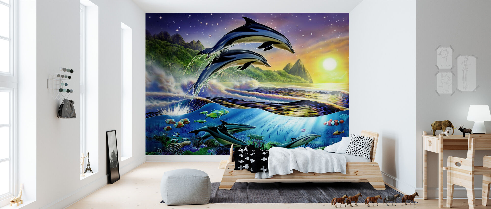 Atlantic Dolphins - Wallpaper - Kids Room