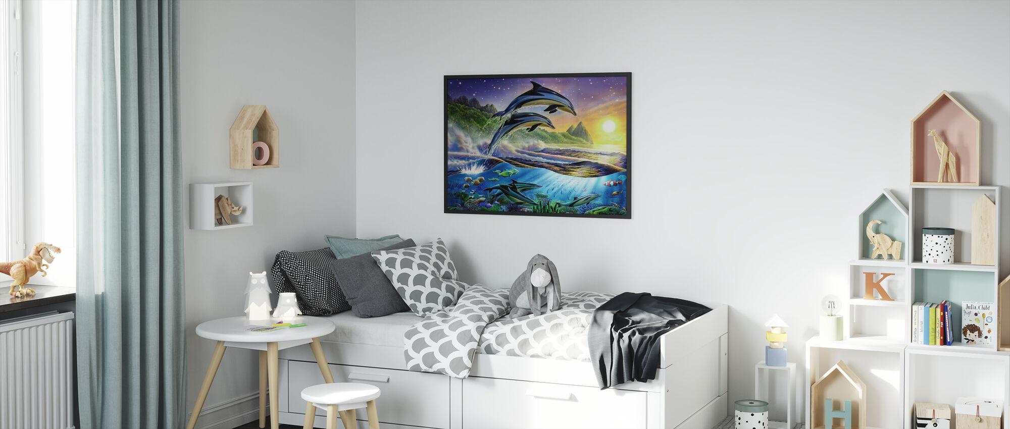Atlantic Dolphins - Framed print - Kids Room