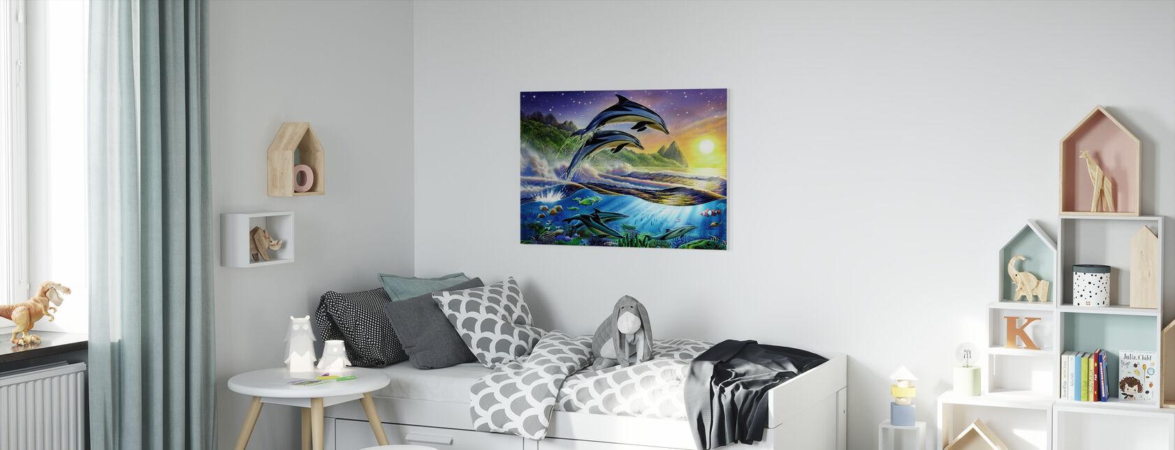 Atlantic Dolphins - Canvas print - Kids Room