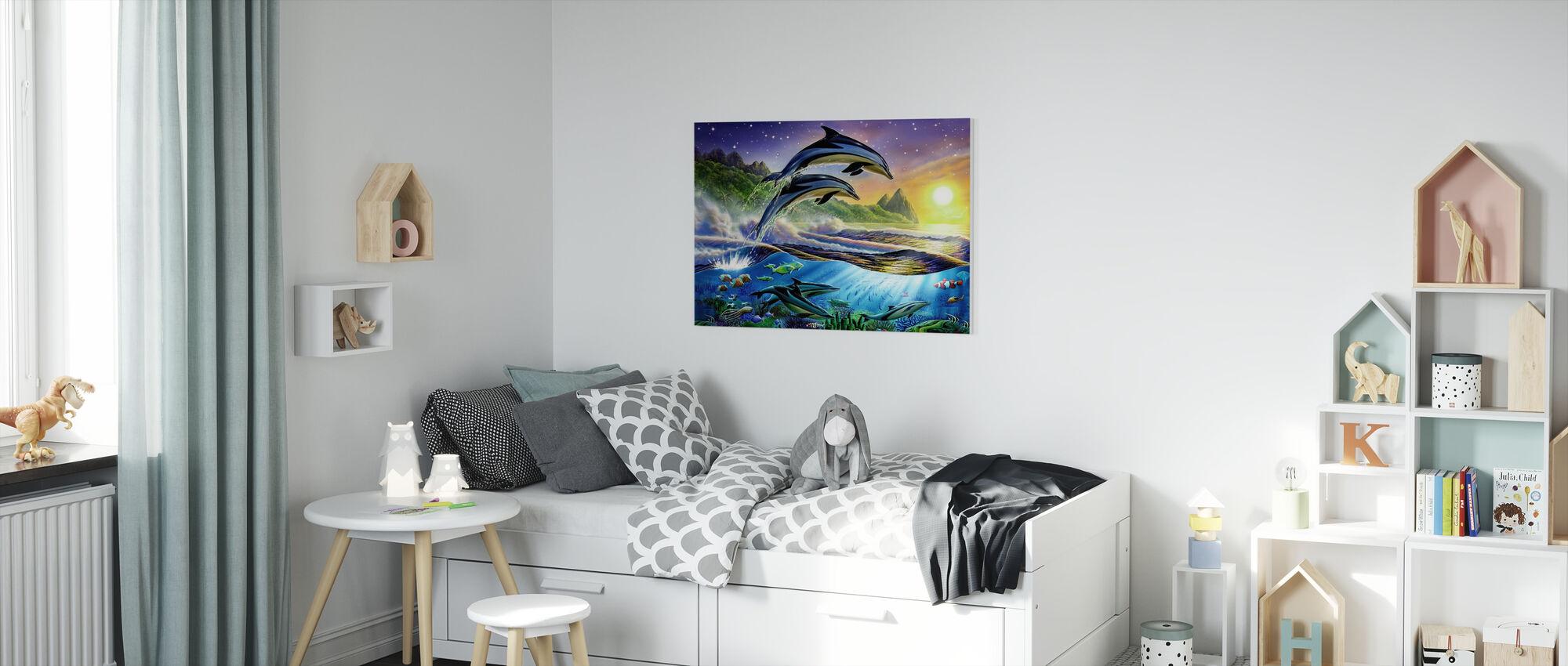 Delfiny atlantyckie - Obraz na płótnie - Pokój dziecięcy