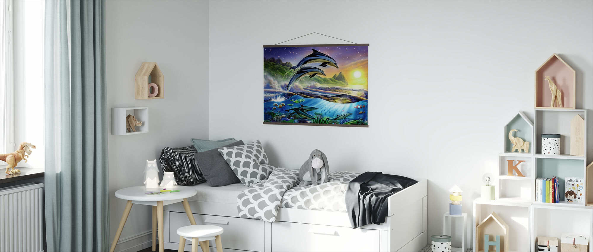 Atlantic Dolphins - Poster - Kids Room