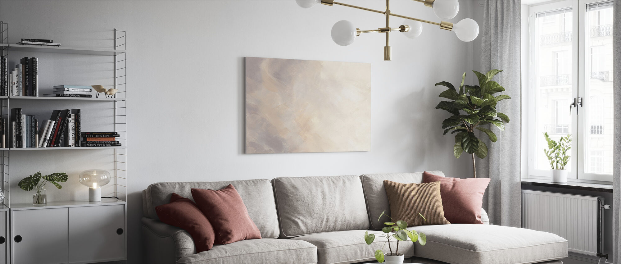 Blush in Motion - Canvas print - Living Room