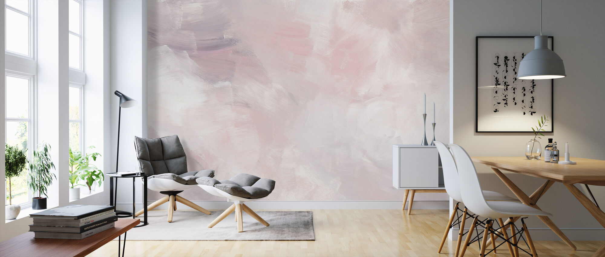 Blush Pink - Wallpaper - Living Room