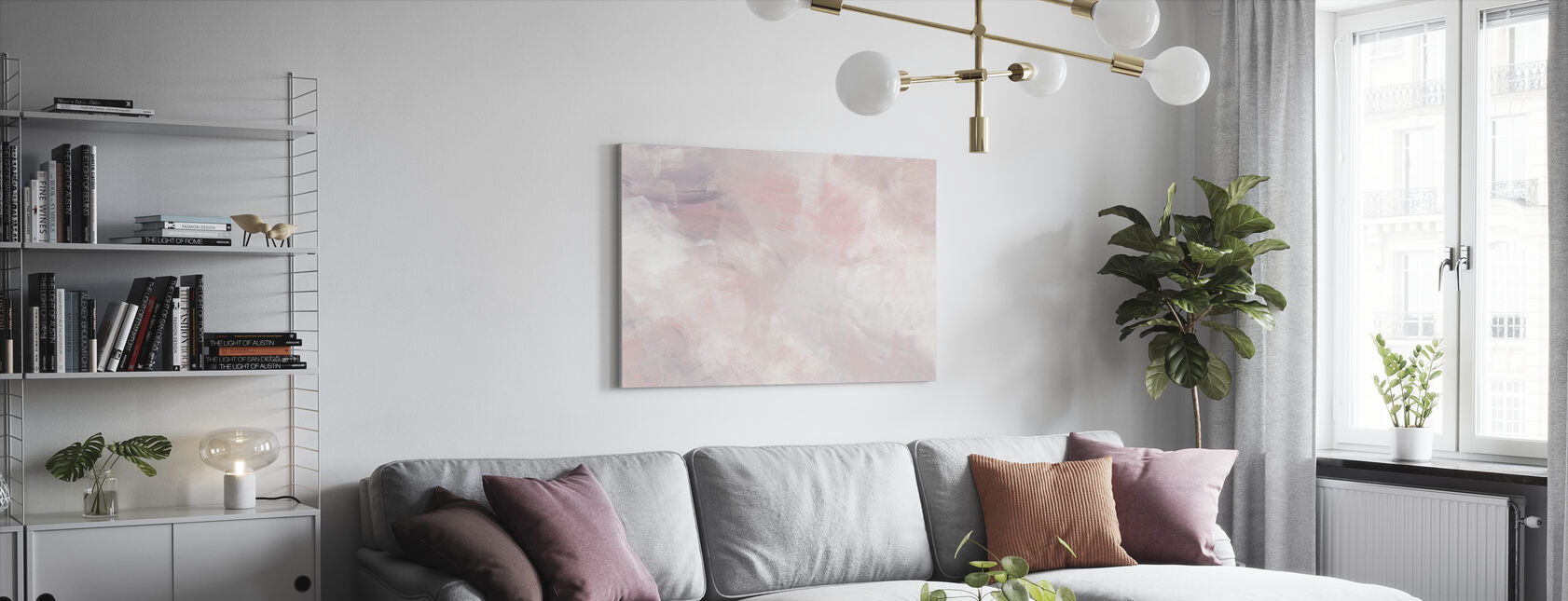 Blush Roze - Canvas print - Woonkamer