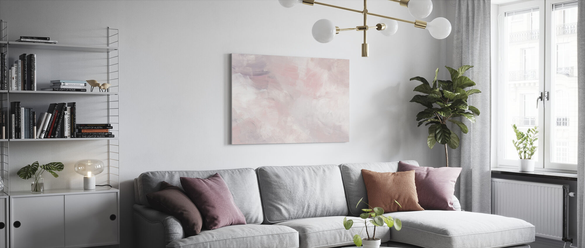 Blush Pink - Canvas print - Living Room