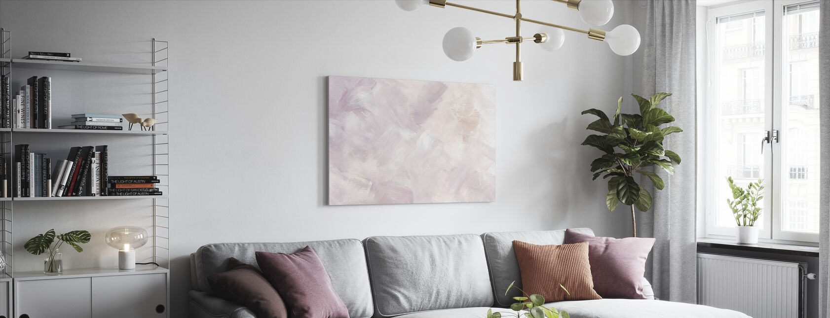 Blush Paarse - Canvas print - Woonkamer